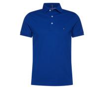 Poloshirt mit Flag-Label 'Luxury Pique Polo S/S SF' royalblau
