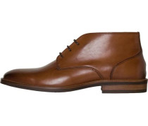 Schnürhalbschuh 'essential Leather Boot' cognac