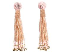 Lange Perlen-Ohrringe pfirsich / rosa