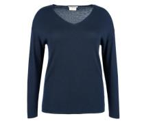 V-Neck Pullover mit Kaschmir blau