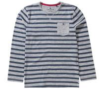 Langarmshirt für Jungen blau / graumeliert