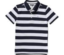 Poloshirt für Jungen dunkelblau / weiß