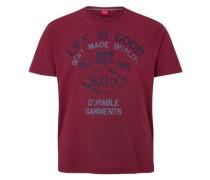 T-Shirt mit Used-Print pink