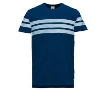 Sport-inspiriertes T-Shirt blau
