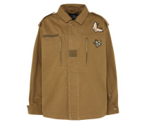 Übergangsjacke 'vintage Badges' khaki