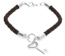 Damen Armband 'Lovely Key' braun / silber