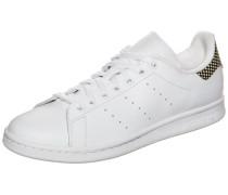 Flacher Sneaker aus Leder 'Stan Smith' weiß