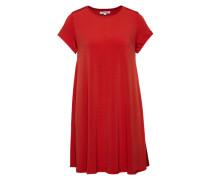 Jerseykleid im A-Linien-Schnitt rot