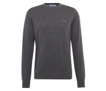 Pullover mit Label-Patch dunkelgrau