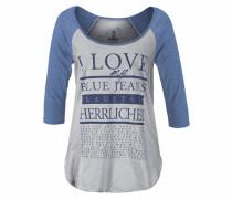 3/4-Arm-Shirt »Emilia« blau / grau