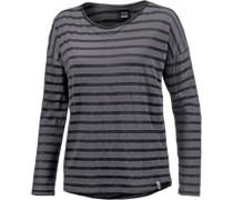 Langarmshirt gestreift grau / schwarz