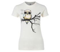 T-Shirt 'Fly Right' elfenbein