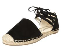 Sandale in Espadrille-Form schwarz