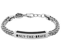 Armband »Only the brave« silber