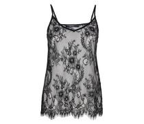 Lingerie-Top aus Floral-Spitze schwarz