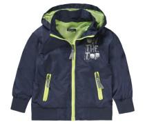 Übergangsjacke für Jungen dunkelblau / hellgrün / silber