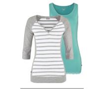 Shirt (Set 2 tlg. mit Top) grau