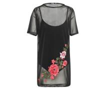 Transparentes Kleid mit Body 'wzz03838' schwarz