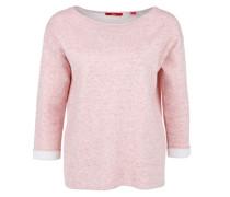 Pullover mit Kontrast-Bündchen pink
