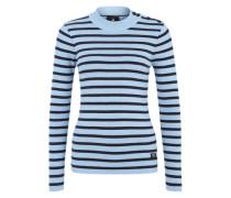 Maritimer Streifenpullover 'Exly' blau