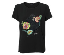 T-Shirt mit Flockprint