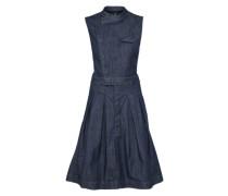 Kleid zum Knöpfen blau