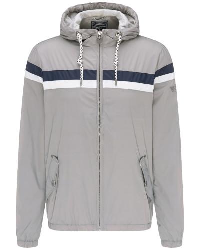 Jacke grau / violettblau / naturweiß