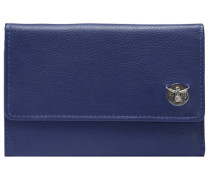 Classic Geldbörse Leder 15 cm blau