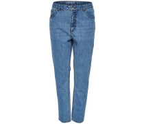 Fanny Mom Regular fit Jeans blau