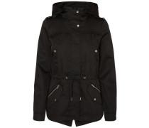 Kurze Übergangs-Jacke schwarz