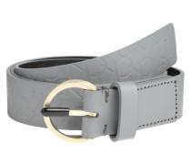 Gürtel mit Logo-Prägung 'Misha' grau