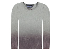 T-Shirt langärmlig Stockholm Print Jungen Kinder grau