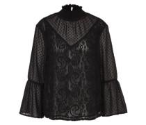 Bluse mit Spitze 'Svala' schwarz