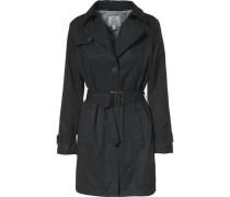 Mantel im Trenchcoatstil schwarz