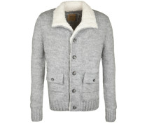Strickjacke 'blouson Knit' grau