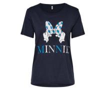 Print-T-Shirt dunkelblau