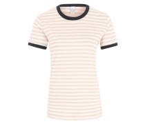 T-Shirt 'Mookie' navy / rosa / weiß