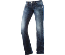 'Valerie' Bootcut Jeans Damen blue denim