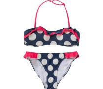 Kinder Bikini dunkelblau / pink / weiß