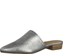 Pantolette silbergrau / silber