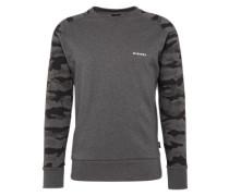 Sweatshirt mit Camouflage-Muster 'Casey' grau