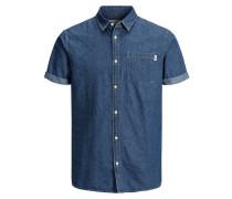 Jeans Kurzarmhemd blau