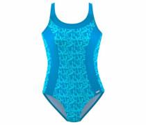 Badeanzug 'Karibik' blau / aqua