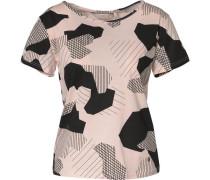 T-Shirt altrosa / schwarz