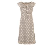 Sommerkleid 'Kathrin' grau / weiß