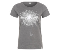 T-Shirt 'Blowball' anthrazit / weiß