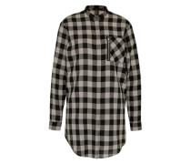 Blusenkleid 'Affect' grau / schwarz
