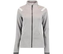 Jacke 'PW Kinetic Fleece' grau / weiß