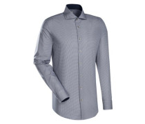 City-Hemd 'Slim Fit' blau / weiß