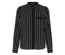 Bedrucktes Langarmhemd schwarz / weiß